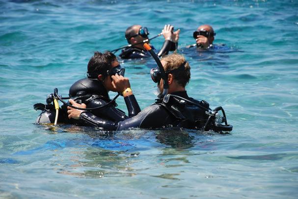 Exclusive plongée Ammoudi Beach en Crète